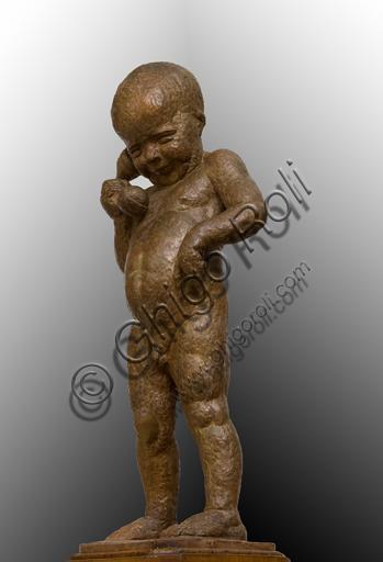 "Ulderico Fabbri (Ferrara 1897-1970): ""Child on the Phone""; sculpture; Height cm. 97."