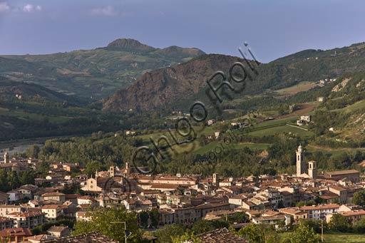Bobbio: veduta del borgo  in Val Trebbia.