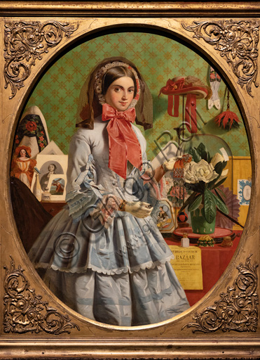 """""""The Empty Purse"""",  (1857)  by James Collinson (1825 - 1881); oil painting on canvas."""