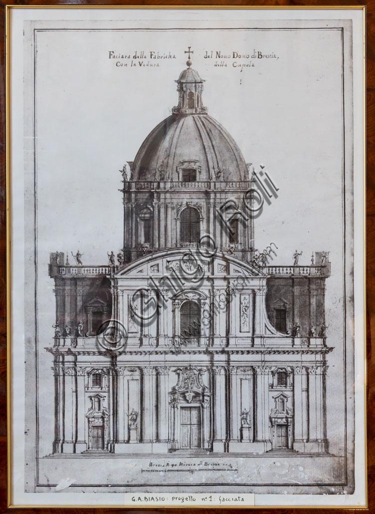 Brescia, Hotel Vittoria: print of the Duomo Nuovo (New Cathedral).