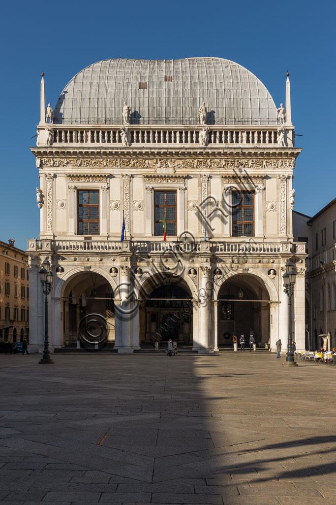Brescia, piazza della Loggia (a Renaissance square where the Venetian influence is evident): the Palazzo della Loggia whose roof and big hall is by Luigi Vanvitelli.