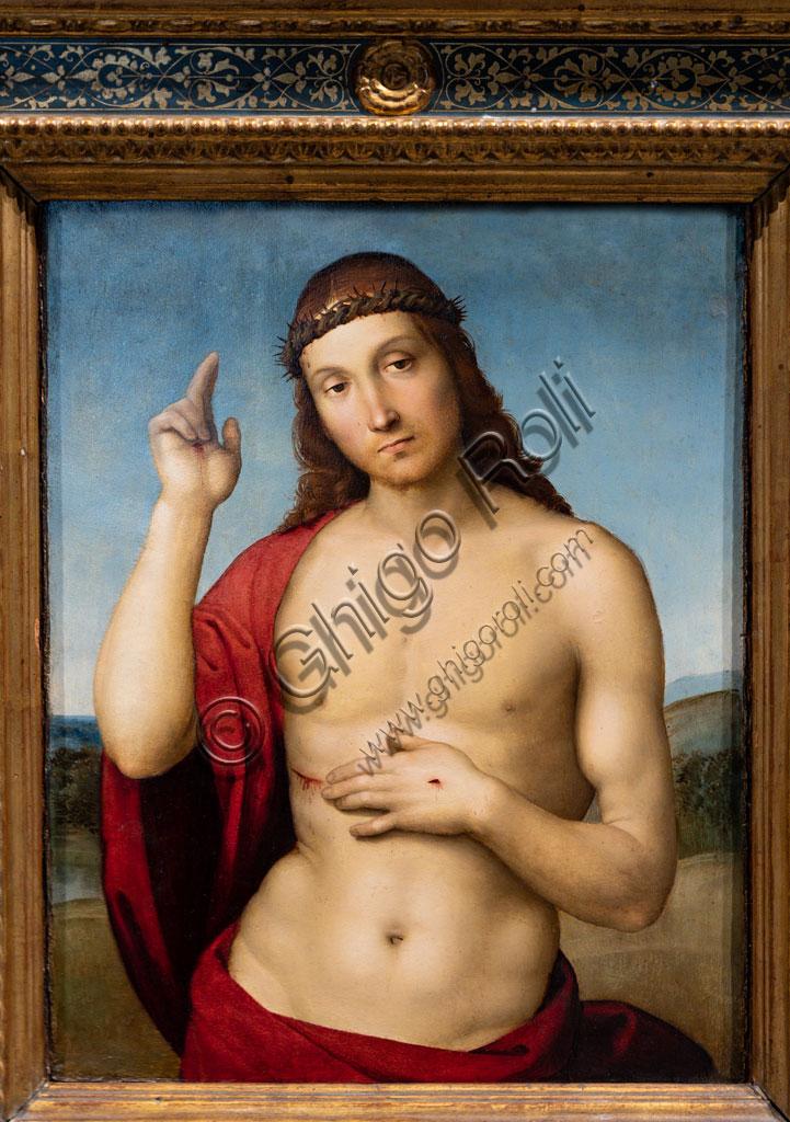 """Brescia, Pinacoteca Tosio Martinengo: """"Blessing Saviour Christ"""", by Raffaello Sanzio. 1505-6."""
