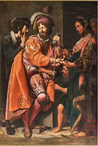 """Modena, Galleria Estense: """"La buona ventura"""" (circa 1617), di Lionello Spada, detto La Scimmia di Caravaggio."""