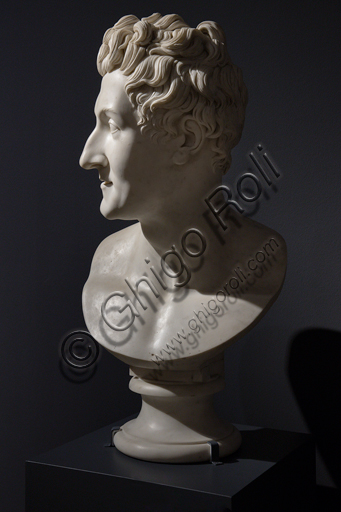 """Colossal Bust of Leopoldo Cicognara"", 1818-22,  by Antonio Canova (1757 - 1822), marble."