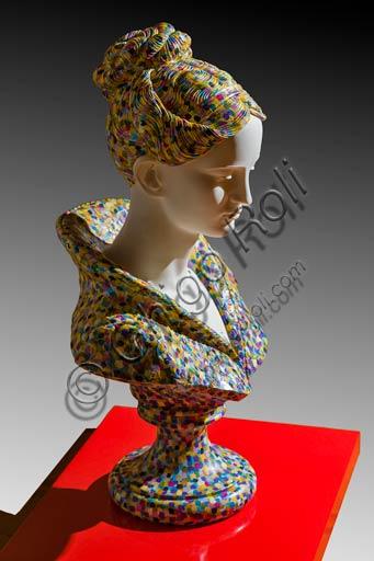 """Rovereto, Casa Depero: """"Busto di donna 2000"""", contemporary artwork by Alessandro Mendini."""