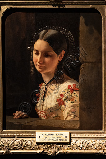 """Giuseppe Molteni: """"Bust of Woman, Lucia of the Betrothed"""", oil painting, 1852."""
