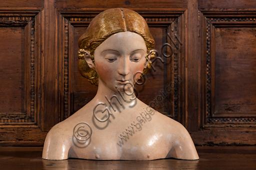 """""""Bust of Woman"""", Papier-mâché, 16th century."""