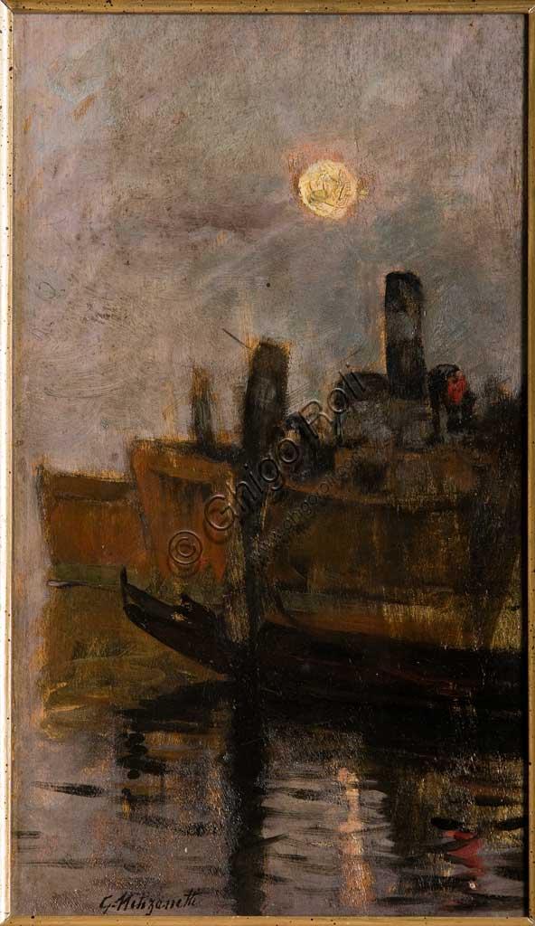 "Assicoop - Unipol Collection: Giuseppe Miti Zanetti, ""Venetian Canal"", oil on cardboard."