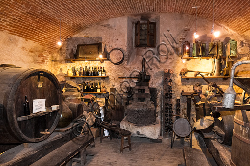 Candelo, Ricetto (fortified structure), the Eco Museum: the room dedicated to viticulture.