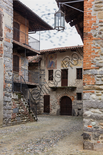 Candelo, Ricetto (fortified structure): partial view inside the Ricetto.