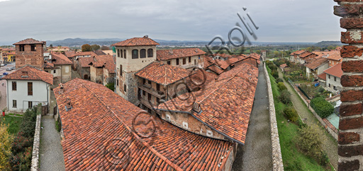 Candelo, Ricetto (fortified structure): view of the hamlet and of the Southern walls.