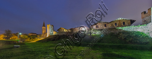 Candelo, Ricetto: veduta delle mura.