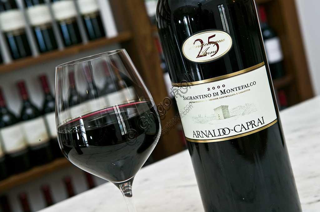 Cantina Arnaldo Caprai: degustazione del vino Sagrantino di Montefalco.