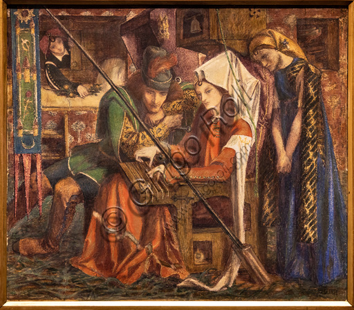 """The Song of the Seven Towers"", (1857) by Dante Gabriel Rossetti (1828-1882); watercolour on paper."