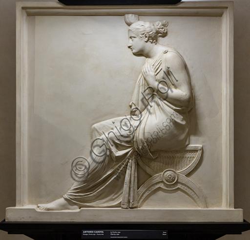 """""""La Carità"""", 1792, di Antonio Canova (1757 - 1822), gesso."""
