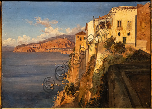 """Teodoro Duclère:  """"Tasso's House in Sorrento"""", oil painting, about 1862."""
