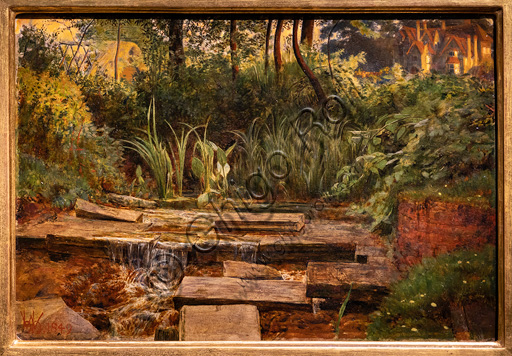"""""""The Haunted Manor"""",  (1849)  by William Holman Hunt (1827 - 1910);  oil painting."""