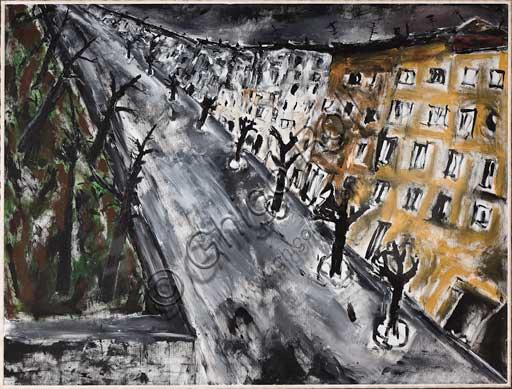 """Collezione Assicoop - Unipol,inv. n° 456: Alberto Beneventi, """"Case 2010"""". Acrilico su tela. 2010."""