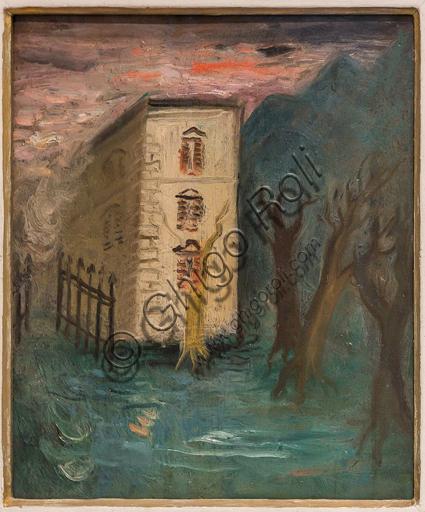 """Museo Novecento: """"Casina tra due strade"""", di Mario Mafai, 1929. Olio su tavola."""