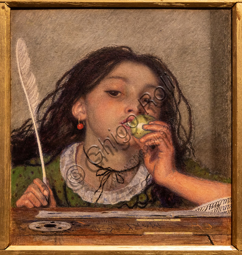 """""""Mauvais Sujet"""",  (1863) di Ford Madox Brown (1821 - 93); watercolour on paper."""