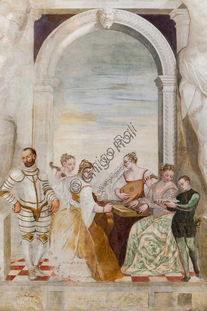"""Caldogno, Villa Caldogno, main hall: """"The Concert"""". Fresco by Giovanni Antonio Fasolo, about 1570."""