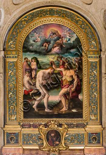 Bologna, Chiesa di San Giacomo, cappella Poggi: oil painting by Prospero Fontana (1561) on a draft by Pellegrino Tibaldi.