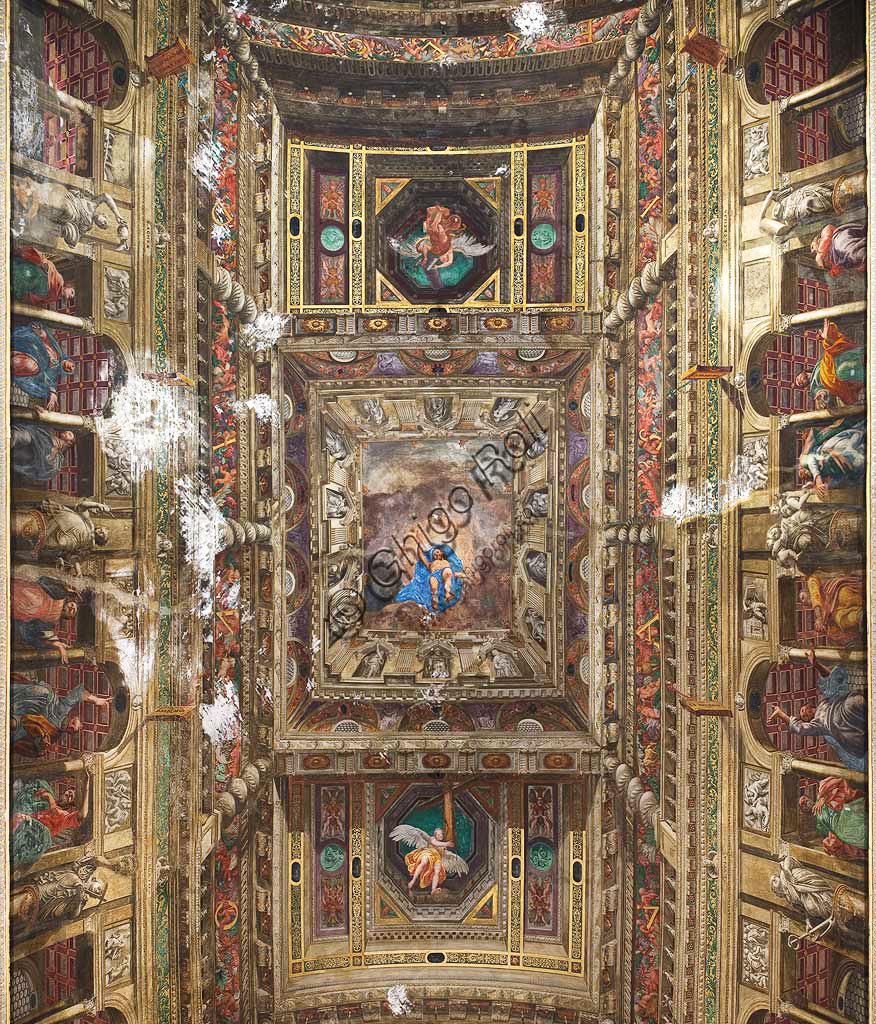 Chiesa di San Paolo Converso, volta della navata centrale: Ascensione di Cristo, affreschi di Vincenzo Campi (1588).