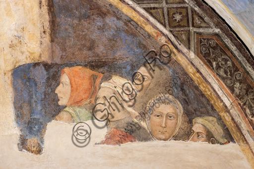 """""""Cinque figure non identificate"""". Affreschi di Jacopo di Cione (fratello dell'Orcagna) su programma iconografico di Coluccio Salutati (1375-1406), conservati nel Palazzo dell'Arte dei Giudici e Notai, o del Proconsolo a Firenze."""