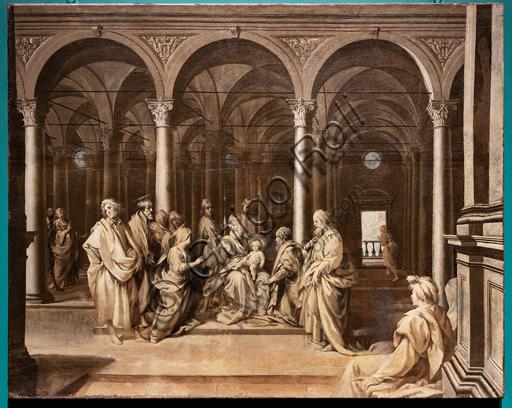 """Perugia, Galleria Nazionale dell'Umbria: """"Circoncisione di Gesù Bambino"""", di Cavalier d'Arpino, pittura a olio su tela, seconda metà del Cinquecento."""