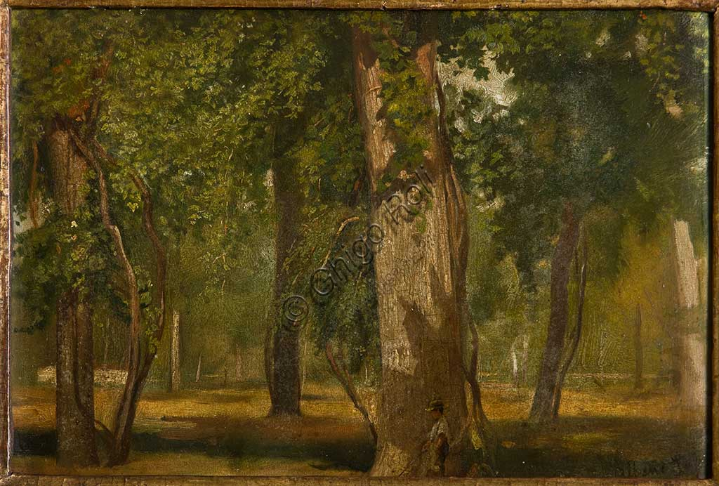"Assicoop - Unipol Collection: Albano Lugli;""The Wood""; oil painting."