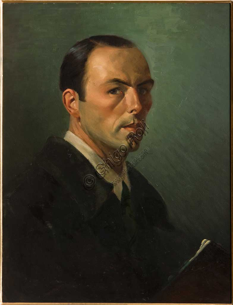 "Assicoop - Unipol Collection: Nereo Annovi, ""Self - Portrait"", painting."