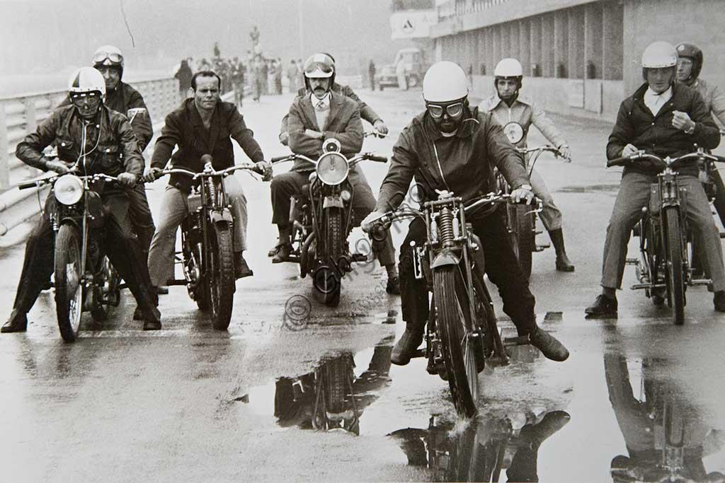 Collezione di moto d'epoca Bruno Valgrande: il collezionista in una foto degli anni Ottanta.