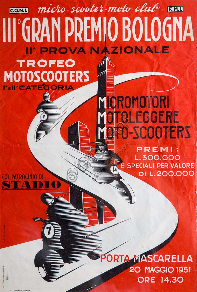 Collezione Sergio Sciarpetti: riproduzione di manifesta pubblicitario d'epoca.