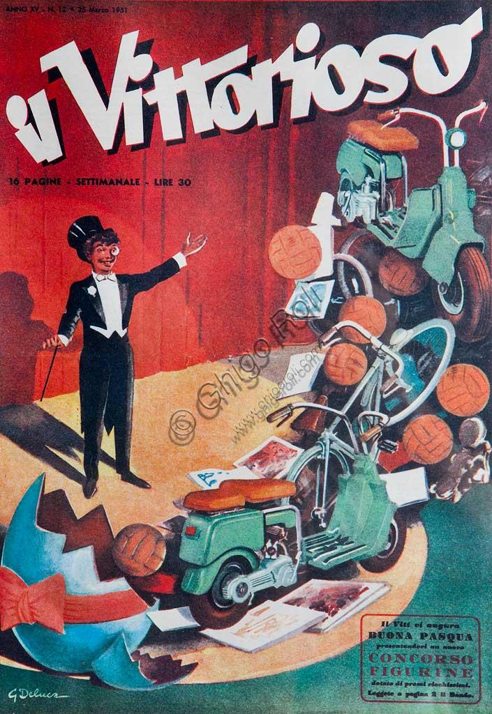 Collezione Sergio Sciarpetti: riproduzione di una copertina de Il Vittorioso.
