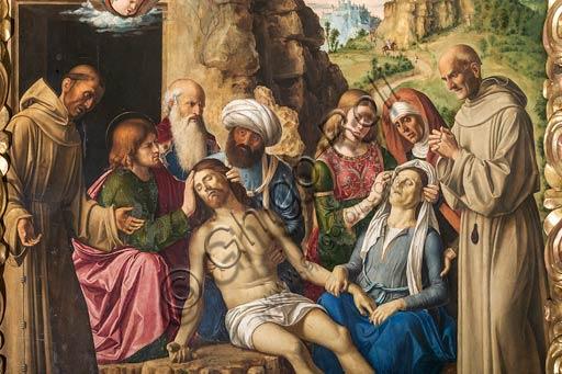 """Modena, Galleria Estense: """"Compianto sul Cristo Morto"""", di Cima da Conegliano (Giovanni Battista Cima, 1459/1460 – 1517/1518). Particolare."""