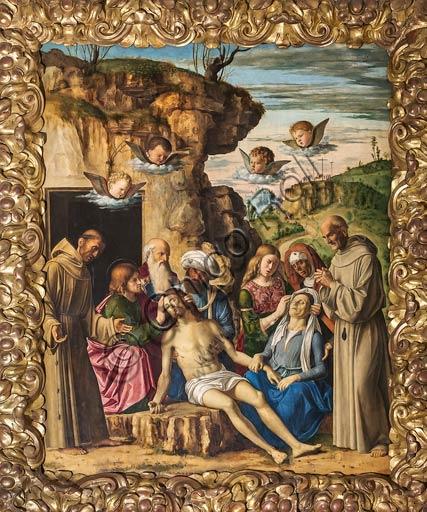 """Modena, Galleria Estense: """"Compianto sul Cristo Morto"""", di Cima da Conegliano (Giovanni Battista Cima, 1459/1460 – 1517/1518)."""