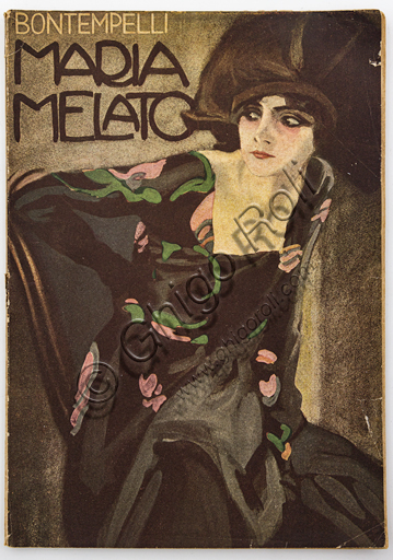 Cover of the book dedicated to Maria Melato by Massimo Bontempelli with illustration by Marcello Dudovich.