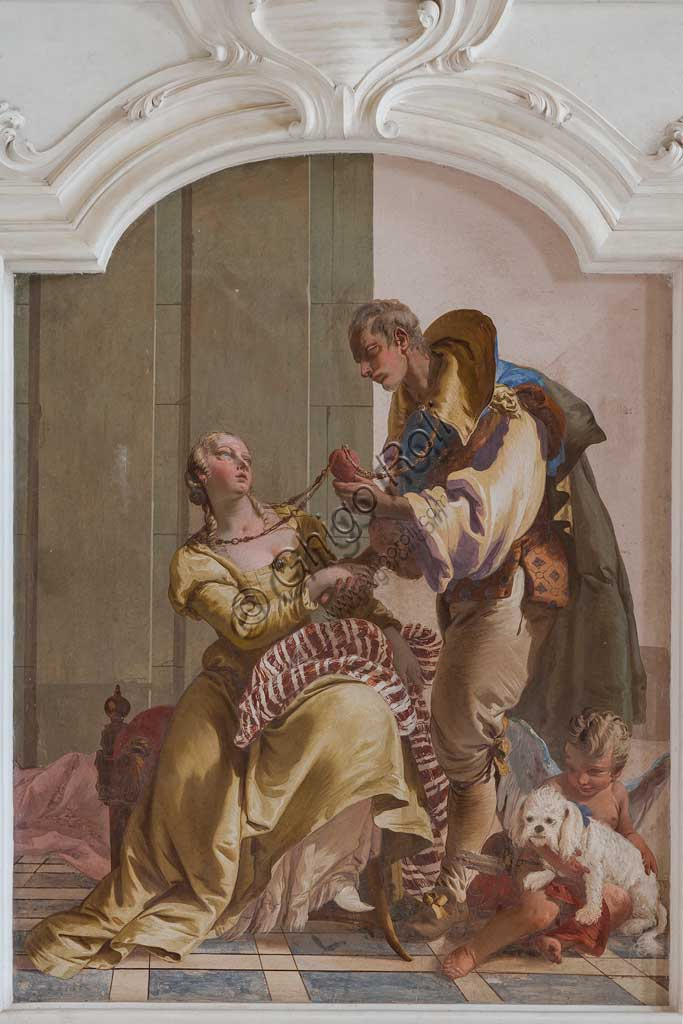 "Villa Loschi  Motterle (formerly Zileri e Dal Verme), the hall of honour: ""The Nuptial Harmony"", allegorical fresco by Giambattista Tiepolo (1734)."