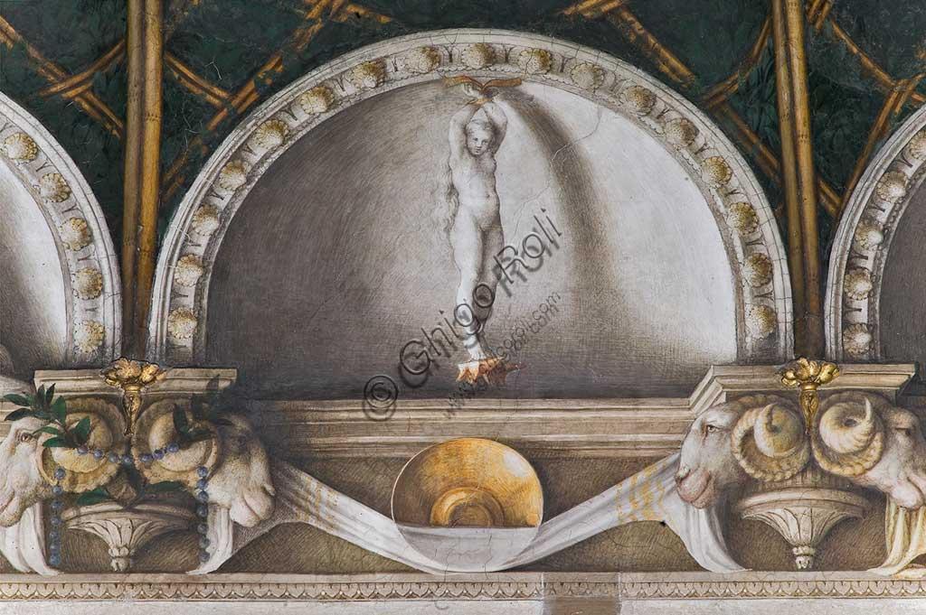 """Convento di San Paolo, camera di Giovanna da Piacenza: affreschi di Antonio Allegri """" il Correggio """" (1518-1519)."""