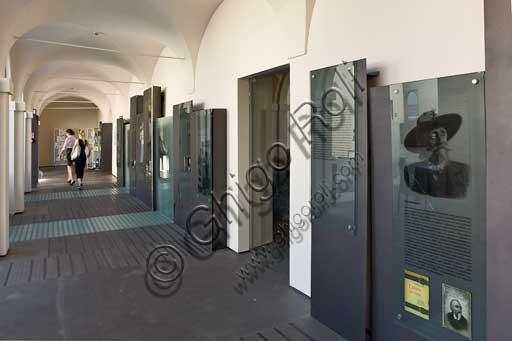 Il cortile di Casa Artusi, museo vivo di storia e scuola di cucina, ricavato nell'antico convento dei Servi.