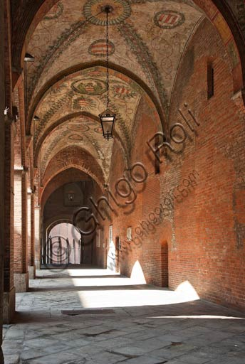 Cremona: internal porch of the Palazzo del Comune (Town Hall Palace).