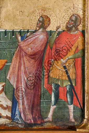 Croazia, Rab (Arbe), Museo della Cattedrale: Paolo Veneziano, Polittico della Crocifissione (1350-55). Particolare.
