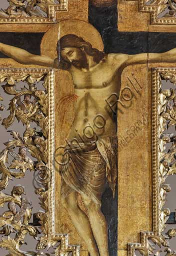 Croatia, Dubrovnik, church of S. Dominic: Paolo Veneziano, Crucifixion (1359?), detail.