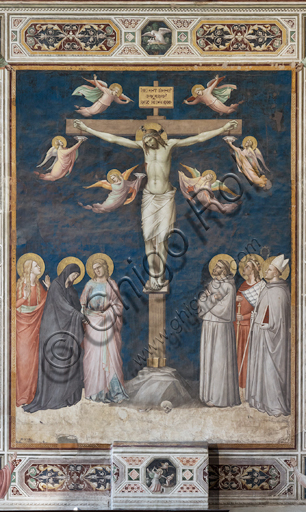 "Basilica of the Holy Cross, sacristy, Scenes of the life of Christ: ""Crucifixion"" by Taddeo Gaddi."