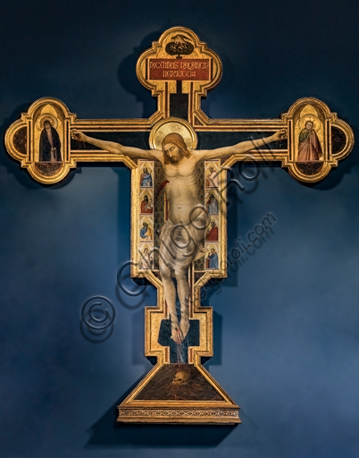 "Bernardo Daddi: ""Crucifix"", 1340's, tempera painting."