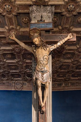 Crucifix in polychrome wood, XV century.