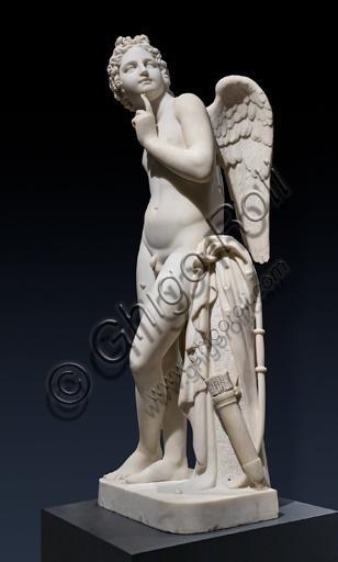 """""""Cupido o Amore con tutti i suoi attributi"""", 1828,  di José Alvarez Bouquel (Bouquet) (1805 - 1830), marmo."""