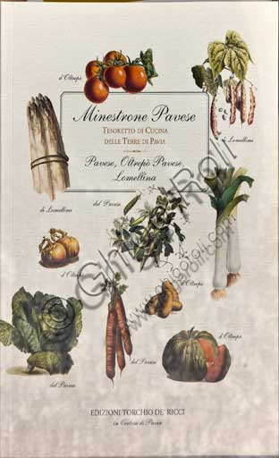 "Pavia, ""Il Cupolone"" Restaurant: cover of a book dedicated to Pavese soup."