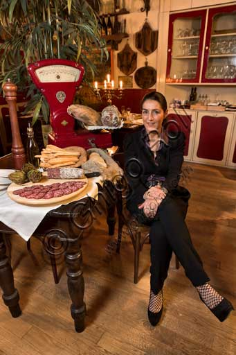 "Pavia, ""Il Cupolone"" Restaurant: the owner Annemarie Carini who manages the restaurant with her husband Fabio."