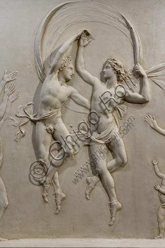 """""""Danza dei figli di Alcinoo"""", 1790-2, di Antonio Canova (1757 - 1822), gesso. Particolare."""